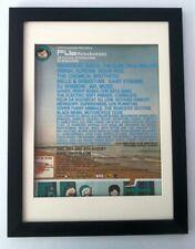 CURE*P WELLER*Benicassim Festival*2002*ORIGINAL*POSTER*AD*FRAMED*FAST WORLD SHIP