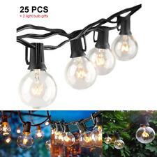 Guirlande Lumineuse Exterieur avec 25 Ampoule  Guirlande Guinguette Lampes Corde