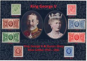 GB KGV BEAUTIFUL ACCOMPANIED DISPLAY OF KING GEORGE V SILVER JUBILEE 1935 MNH
