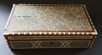 Inlaid wood mosaic work vintage Art Deco antique box
