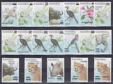 Namibia 2005 Definitive Surcharged set of 19 values very scarce unhinged mint