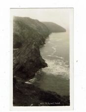 POST CARD REAL PHOTO 455 OF ST. AGNES HEAD BY HAWKE OF HELSTON