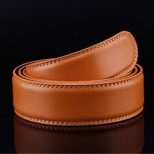 Men`s 110-140cm Genuine Leather Belt Automatic Buckle Waist Strap Belt 5 Colors