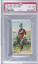 1909 Recruit Military Series Stand-Ups Tobacco T81 LAEN Lancer England PSA 6 4u6