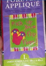 """New Flip Flops Flag proclaim """"Kick up your Flip Flops!"""" Nylon House Flag 28 x 40"""