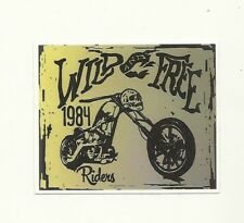 AUTOCOLLANT - BIKER CHOPPER RIDERS WILD AND FREE MOTO HARLEY DAVIDSON / STICKERS