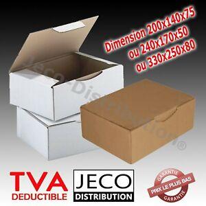 Boites postales d'expédition carton marron ou blanc  Lots 5 à 500 envoi postaux