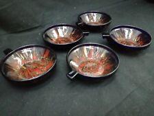 Set 5 ciotole Art Déco in pasta di vetro circa 1940