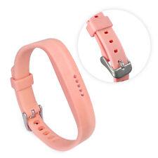TUFF LUV Adjustable Silicone strap Bracelet Wrist Band For FitBit Flex 2 - Pink