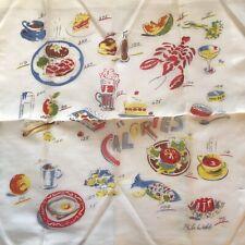 Vintage Print Handkerchief Calories Printed Hankie Phila Webb Hanky 1166 - 16�