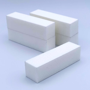 White Buffer Blocks Nail Polish Removal File Board grit Buffing Block Nail Prep