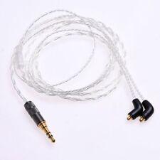 1.2m 4ft Silver Plated HIFI Cable for Etymotic ER4P ER4B ER4S ER4SR ER4XR ER4PT