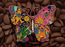 Grateful Dead pins Butterfly lighting bolt pin BEAR dance sun flower moon B