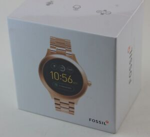 NEW AUTHENTIC FOSSIL GEN 3 VENTURE SMARTWATCH ROSE GOLD WOMENS FTW6000 WATCH