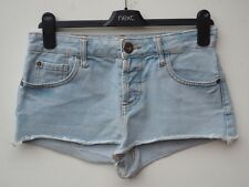 Fantastic RIVER ISLAND Pale Blue Bleached Denim Hotpants / Shorts size UK 8