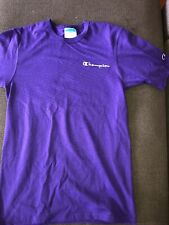 New Men's Champion Reverse Weave Script Logo Purple Jersey T Shirt Sz M