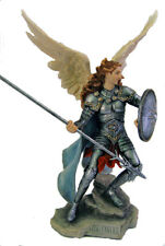 Archangel Raphael Statue, Hand Painted Color, 13.5""