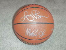 Larry Bird & Magic Johnson Autographed In/Out Basketball  Steiner Sports