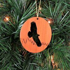 Flying Eagle Christmas Ornament Wood Redwood Souvenir
