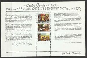 Portugal 1976 - 600 Years Sesmarias Law S/S MNH