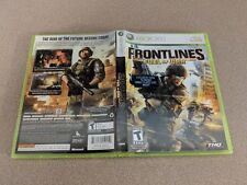 FRONTLINES FUEL OF WAR MICROSOFT XBOX 360 LN 100% PERFECT CONDITION COMPLETE!