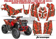 AMR Racing DECORO GRAPHIC KIT ATV POLARIS interferenzaNverso/Trailblazer Fire CAMO B