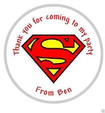 Personalizado logotipo de Superman Fiesta Cumpleaños de regalo mochila pegatinas