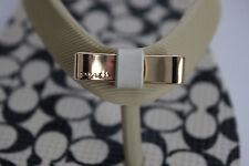 NIB COACH Size 7 Womens Milk/Black Signature C AMEL Bow Rubber Sandal Flip Flop