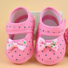 Cute Bow Baby Kids Girls Newborn Toddler Infant Prewalker Soft Sole Crib Shoes