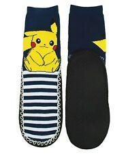Womens Girls Pokemon Pikachu Eskimucks Slipper Socks S M 5-7.5 Moccasin Kids