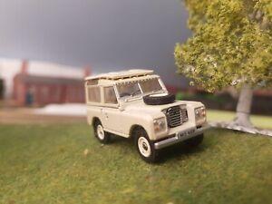 1:76 Oo Maquette Land Rover Séries 3 Break 1977 Swb Calcaire Neuf en Boîte