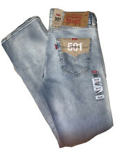 LEVI'S MENS 501 STRETCH STRAIGHT LEG BUTTON FLY JEANS 29 X 32