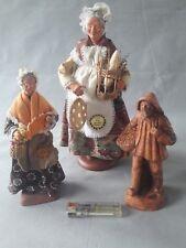 Lot santons d'art de provence en argile, Ansidei, Amy, Syndicat des santonniers