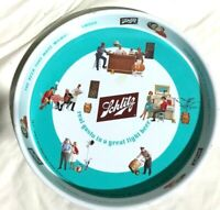 "Vintage1962  SCHLITZ Brewing Co. Metal Beer Serving Tray 12""   Very Nice!"
