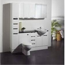 Haute brillance blanc salle de bains / meubles de cuisine plinthe, panneau de remplissage 66 x 10 x 2 cm
