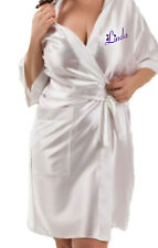 Personalised Ladies Silky Dressing Gown / Robe Christmas Present Stocking Filler