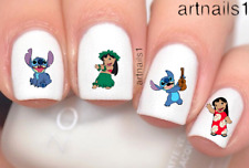 Disney Lilo Stitch Nail Art Water Decals Stickers Manicure Salon Polish Gift