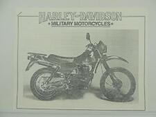 COPY Vintage 1986 Harley MT500 Military Motorcycles Brochure L3217