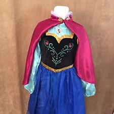 7 - 8 Princess Anna Frozen Disney Store dress up costume cape outfit girls child