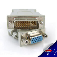 1 x DVI-I Male To VGA Female ( Digital + Analog ) Socket Converter - NEW (N004)