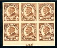 USAstamps Unused XF US Harding Plate Block of 6 Scott 576 OG MNH