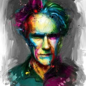 CLINT BY PATRICE MURCIANO ROCK SLATE PRINT AVAILABLE IN 3 SIZES