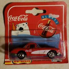 Coca-cola Red 1958 Chevrolet Corvette Bear Majorette 1:64 Metal 200 Series Red