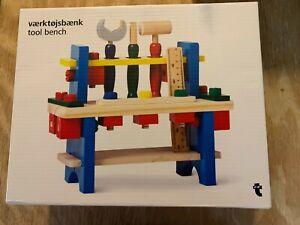 Kids Toddlers Wooden Tool  Work Bench Set, Tool Kit Gift for Boys Girls