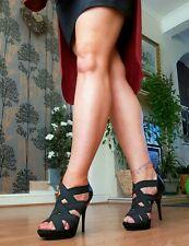 Carvela K G Negro Super Sexy Zapatos Talla 6/39