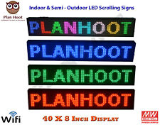 40x8 Inch Wifi Usb Led Programmable Scrolling Sign For Semi Outdoor Indoor Use