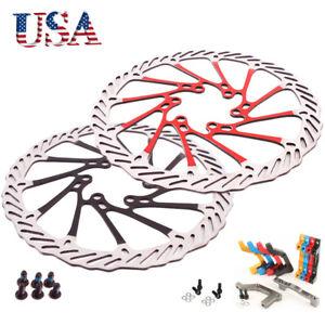 160/180/203mm MTB Bike Disc Brake Rotor 6 Bolts PM/IS 180/203mm Adapter Calipers