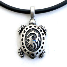 Maori Turtle Polynesian Charm Amulet long life Prosperity Protect Pewter Pendant