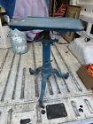 Drafting Antique Vintage Adjustable Cast Iron Steel Orig Blue Paint Small Metal