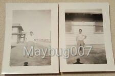 Lot of 2 Vintage Black and White photographs men San Antonio, Texas 1942